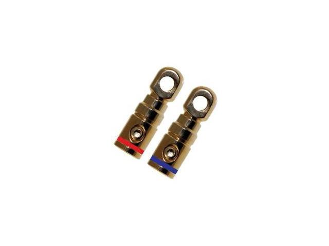 Absolute GRT102-1 Pair 2 Gauge Gold Power Ring Terminal by Absolute