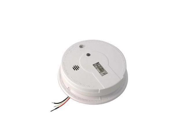 Kidde i12080 120V with 9V Battery Backup AC/DC Powered, Ionization Smoke Alarm with Safety Light