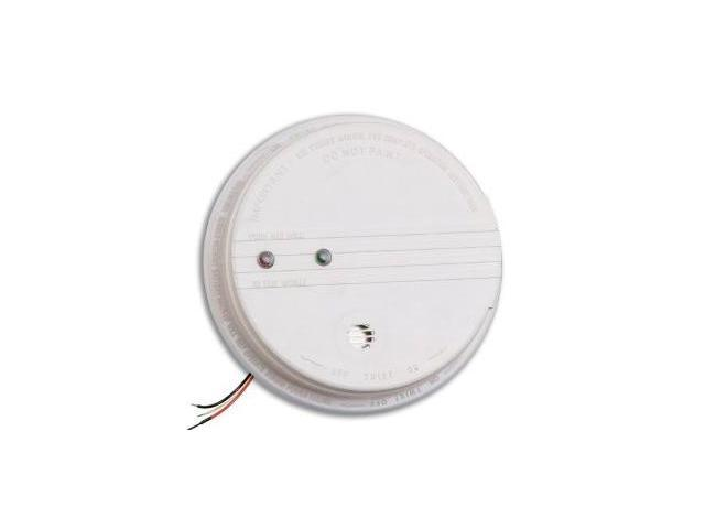 kidde p12040 ac dc photoelectric smoke alarm with 120v power source and 9v ba. Black Bedroom Furniture Sets. Home Design Ideas