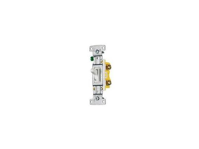 Toggle Switch Single Pole 15A 120V White Hubbell Electrical Products RS115W