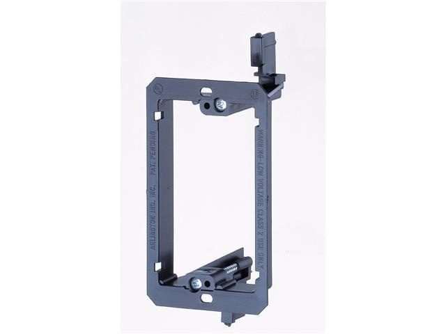 Arlington LV1 1 Gang Low Voltage Mounting Bracket, Black