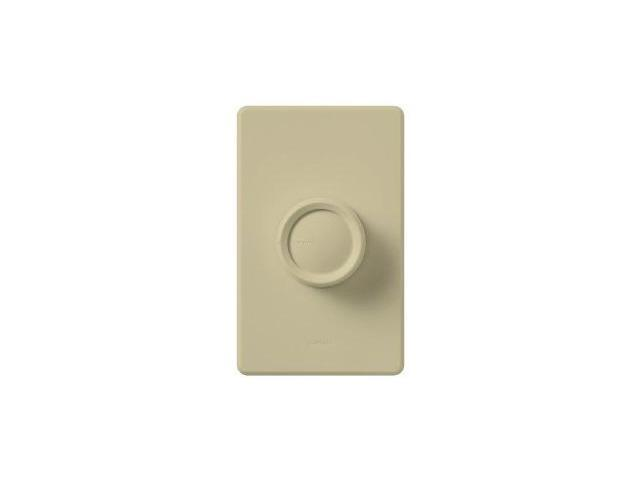Lutron Rotary 1P Push On/Off Dimmer 600W Ivory Lutron Electronics D-600P-IV