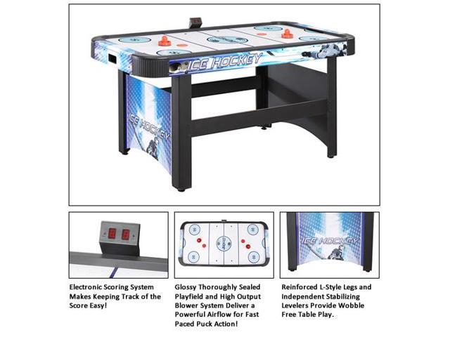 Face off 5 foot air hockey game table with electronic for 12 in 1 game table sears