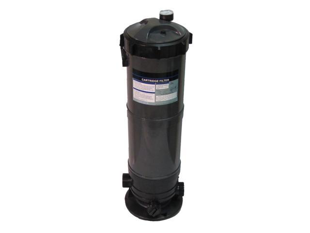 Cartridge Filter System with Pressure Gauge for Swimming Pools 120SF