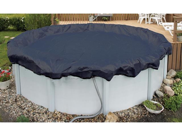 Winter Pool Cover Above Ground 33 Ft Round Arctic Armor 8Yr Warranty w/ Clips