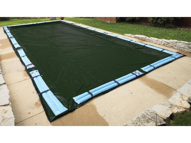 Winter Pool Cover Inground 16X32 Rectangle Arctic Armor 12Yr Warranty w/ Tubes