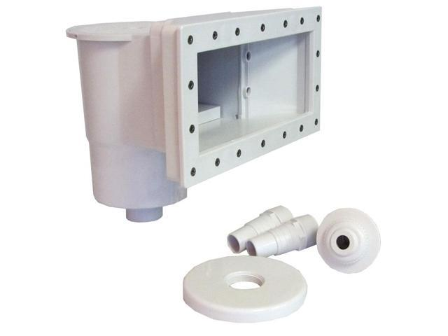 Swimming Pool Complete Thru-Wall Wide Mouth Skimmer Kit