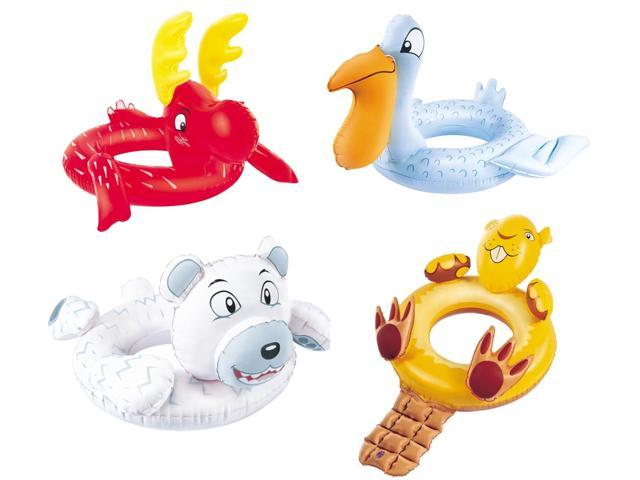 Inflatable Animal Swim Ring 1-Beaver, 1-Reindeer, 1 Polar Bear & 1-Pelican
