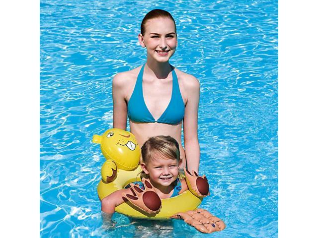 Inflatable Animal Swim Ring for Small Children - Beaver
