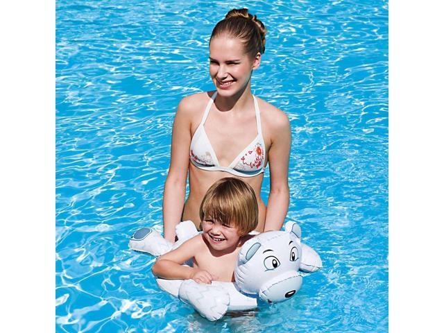 Inflatable Animal Swim Ring for Small Children - Polar Bear