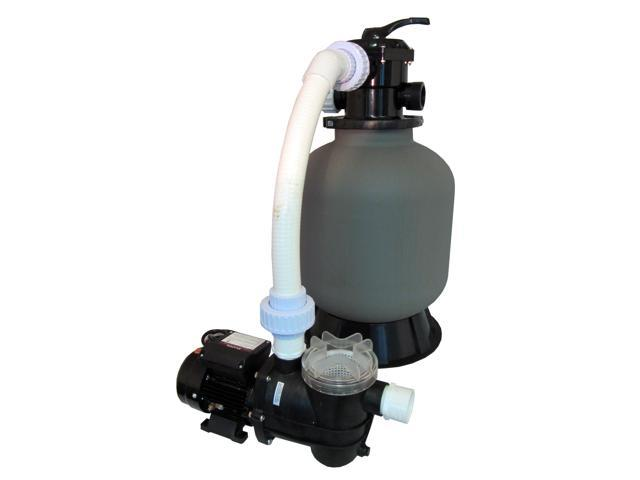 Above-Ground Swimming Pool Sand Filter System with 0.35 HP Pump
