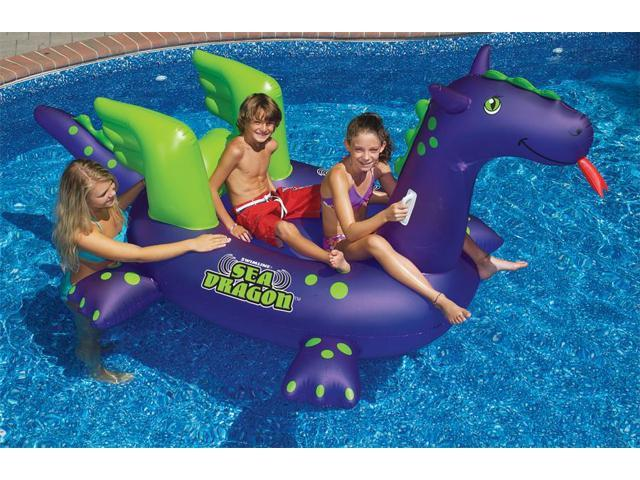 Giant Sea Dragon Inflatable Swimming Pool Riding Float for Kids - 115