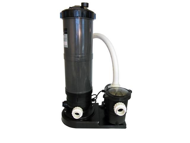 In ground swimming pool cartridge filter system with 2 for Inground pool pump and filter systems