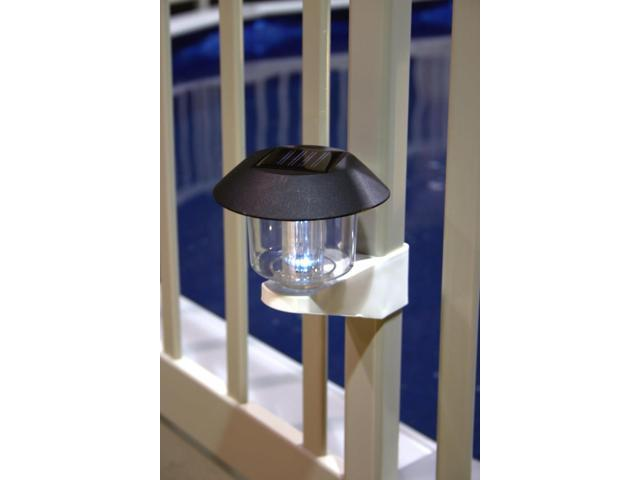 Solar Light Kit For Above Ground Pool Fence - 4 Pack - Taupe