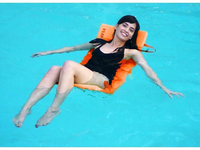 Orange Flip & Float Water Lounge for Swimming Pool