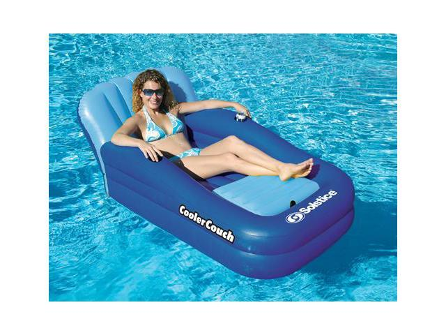 Solstice Oversized Inflatable Couch with Onboard Ice Cooler for Swimming Pool