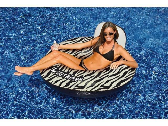 Swimline Wildthings Zebra Inflatable Lounger for Swimming Pool