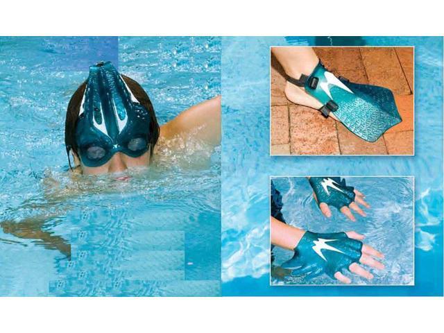 Swimline Sea Creature Goggle, Gloves and Fins Swim Set