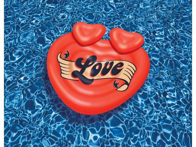 Amazing Loveru0027s Island Giant Inflatable Heart Shaped Pool Float