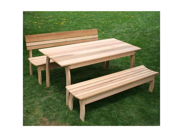 Creekvine Designs 46 Inch Cedar Odd Couple Dining Set