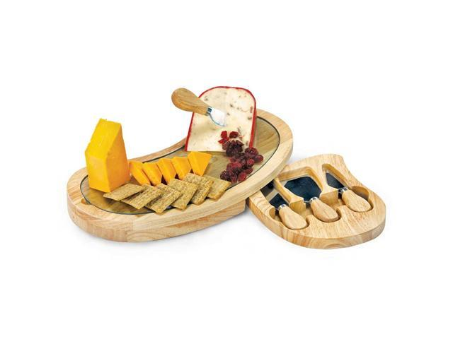Picnic Plus Seville Cheese Board-Wood/Glass