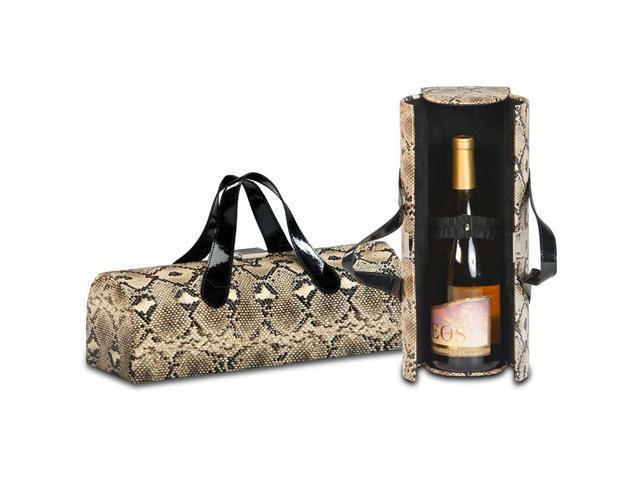 Picnic Plus Carlotta Clutch Wine Bottle Clutch-Snake