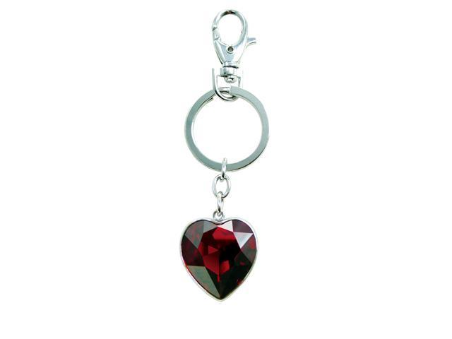 """<Just Perfect>Crystal Red Swarovski Crystal """" Delight"""" Heart-shaped Key Chain .3.1"""""""