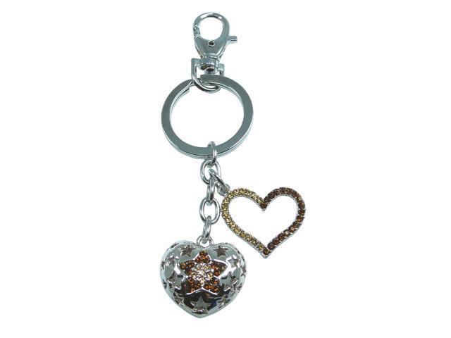 "<Just Perfect>Champagne Gold Swarovski Crystal ""Glorious"" Key Chain .2.5"""