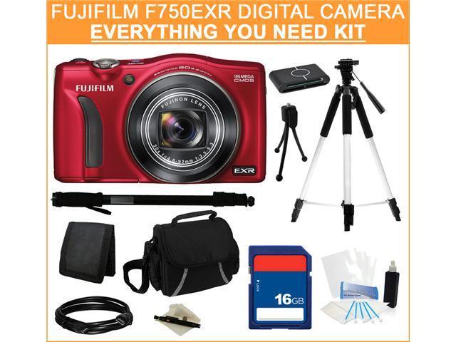 Fujifilm FinePix F750EXR Digital Camera, Everything You Need Kit, 16228252
