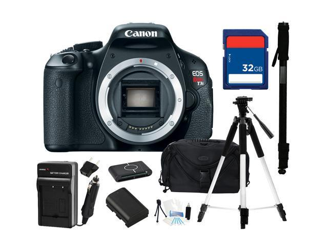 Canon EOS REBEL T3i Black 18 MP Digital SLR Camera (Body Only), Everything You Need Kit, 5169B001