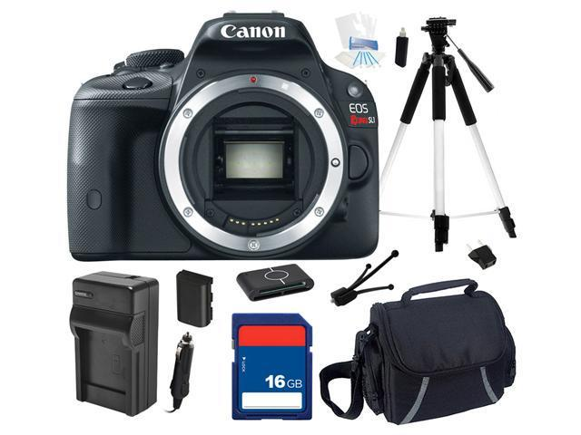 Canon EOS Rebel SL1 100D DSLR Camera (Body Only), Beginner's Bundle Kit, 8575B001