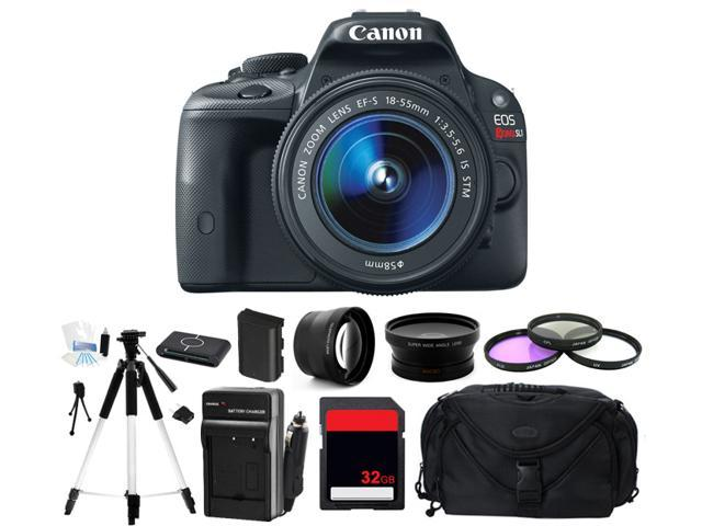 Canon EOS Rebel SL1 100D Digital Camera w/ 18-55mm Lens (Photographer's Bundle)