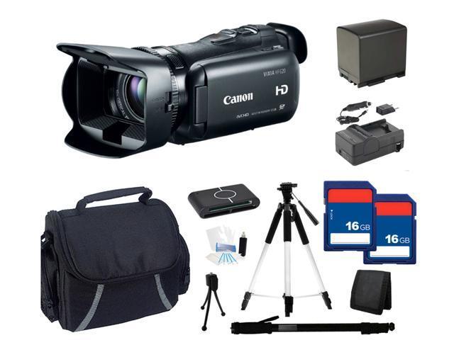 Canon VIXIA HF G20 HD Camcorder - Extra Memory Bundle Kit