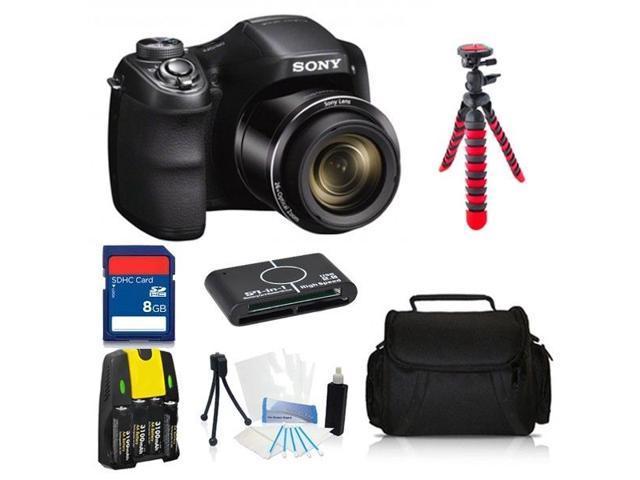 Sony Cyber-Shot DSC-H200 20.1 MP Digital Camera Advanced 8GB Photographers Kit