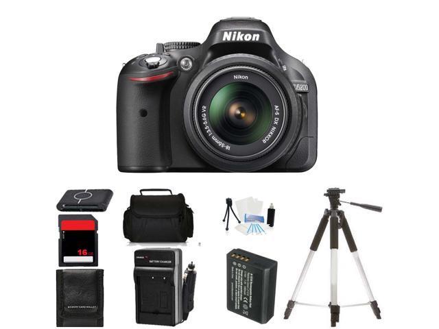 Nikon D5200 Digital SLR Camera & 18-55mm Lens Body Beginner Birthday Bundle