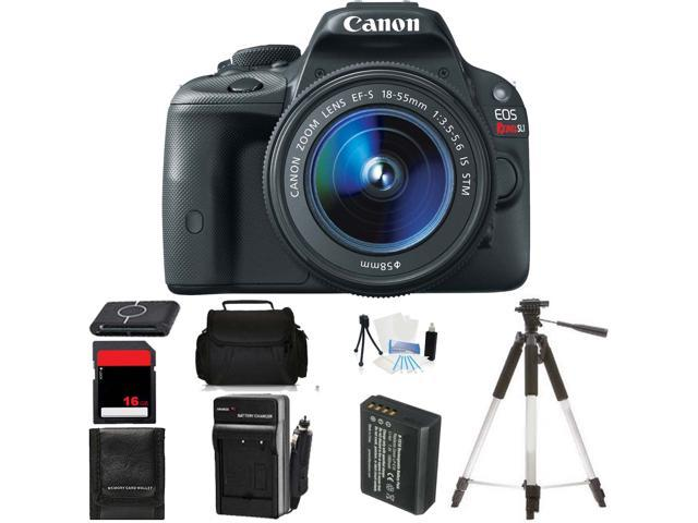 Canon EOS SL1 DSLR Camera W / 18-55mm IS STM Lens Body Beginner Birthday Bundle