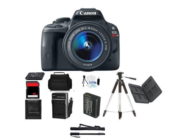 Canon EOS SL1 DSLR Camera W /18-55mm Lens Beginner Mothers Day Bundle + Bonuses