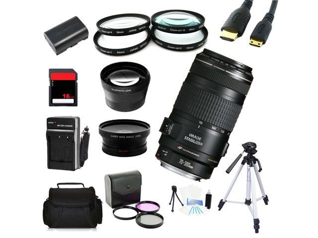 Advanced Shooters Kit for the Canon 6D includes: EF 70-300mm IS USM + MORE ...