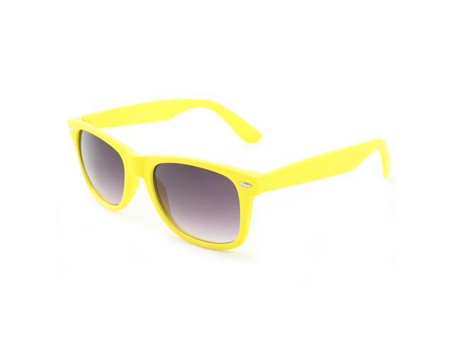 Wayfarer Fashion Sunglasses 350A Yellow Special Rubber Touch Finish with Flexibility Purple Black Gradient Lens for Men and Women