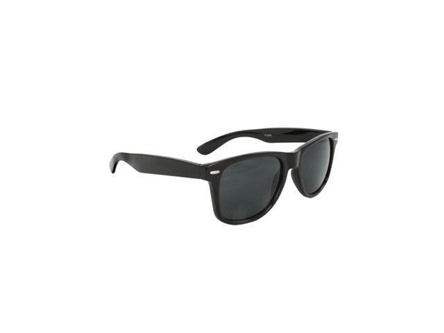Wayfarer Fashion Sunglasses Solid Black with Black Lenses for Men and Women
