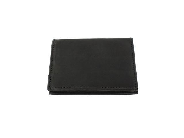 YL Fashion Men's Leather Wallet Bi-fold Black Design