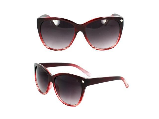 MLC Eyewear Wayfarer Fashion Fashion Sunglasses Burgundy and White 2tone Frame Purple Black Lenses for Women and Men