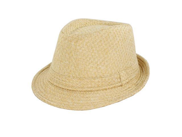 Faddism Fashion Fedora Hat in Beige Design