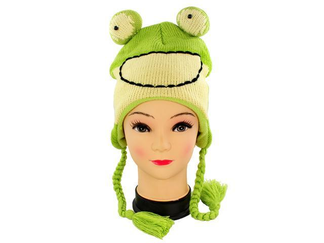Faddism Adorable Fun Beanie in Frog Design.