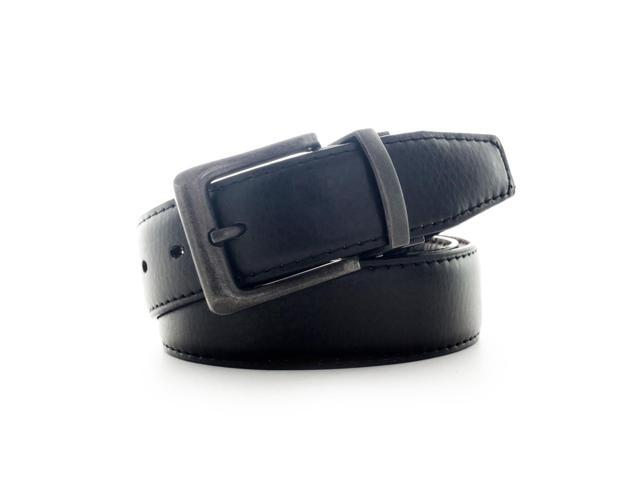 Faddism Men's Genuine Leather Reversible Belt - Black, Brown - Extra Large