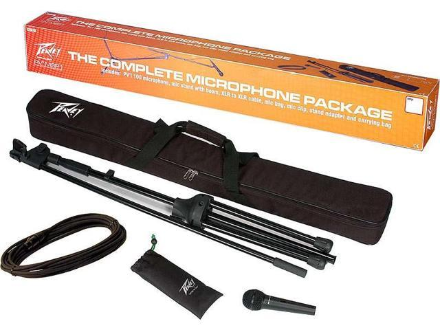 Peavey PV-MSP1 1/4 Microphone And Stand Package With 1/4