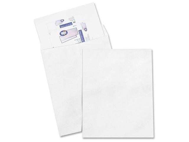 Quality Park Products QUAR5121 Tyvek Open-End Jumbo Mailers- Plain- 18in.x23in.- White