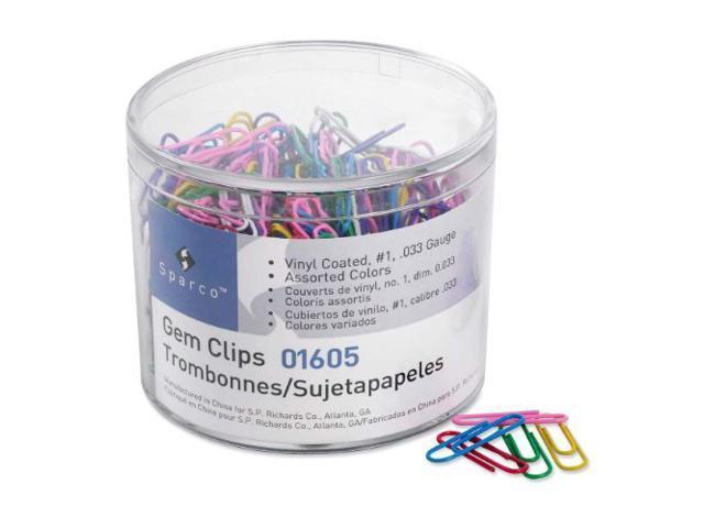 Paper Clips .033 Guage Vinyl Coated S ize No. 2 500/Box AST