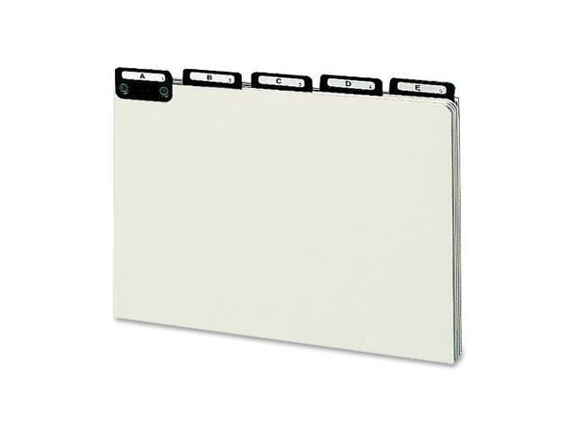 Pressbrd File Guides A-Z 1/5 Metal Tab Legal GY/GN