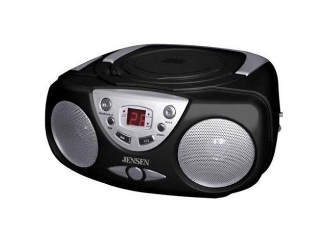 JENSEN  AM/FM/CD Boom Box - Black (CD472)